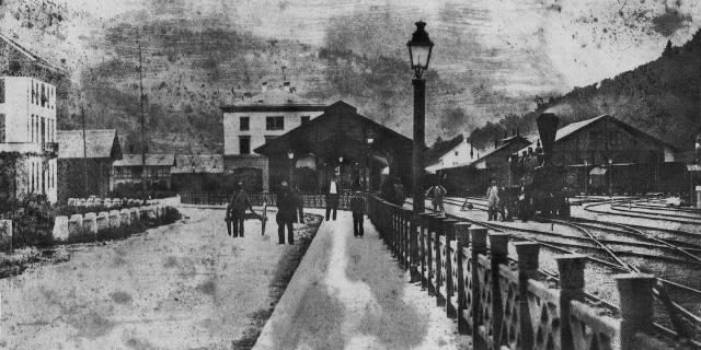 Bahnhof von Olten um 1860